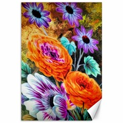 Flowers Artwork Art Digital Art Canvas 12  X 18