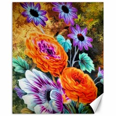 Flowers Artwork Art Digital Art Canvas 16  X 20