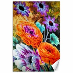 Flowers Artwork Art Digital Art Canvas 24  X 36
