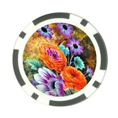 Flowers Artwork Art Digital Art Poker Chip Card Guard