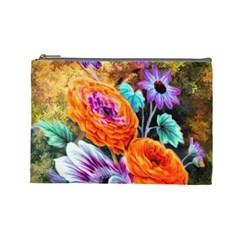 Flowers Artwork Art Digital Art Cosmetic Bag (large)