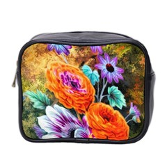 Flowers Artwork Art Digital Art Mini Toiletries Bag 2 Side