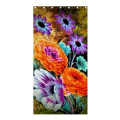 Flowers Artwork Art Digital Art Shower Curtain 36  X 72  (stall)