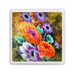 Flowers Artwork Art Digital Art Memory Card Reader (square)
