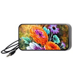 Flowers Artwork Art Digital Art Portable Speaker (black)