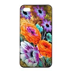 Flowers Artwork Art Digital Art Apple Iphone 4/4s Seamless Case (black)
