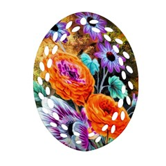 Flowers Artwork Art Digital Art Ornament (oval Filigree)