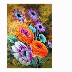 Flowers Artwork Art Digital Art Small Garden Flag (two Sides)