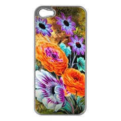 Flowers Artwork Art Digital Art Apple Iphone 5 Case (silver)
