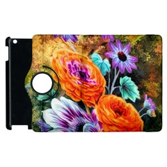 Flowers Artwork Art Digital Art Apple Ipad 2 Flip 360 Case