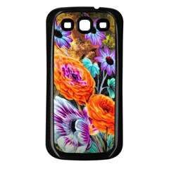 Flowers Artwork Art Digital Art Samsung Galaxy S3 Back Case (black)