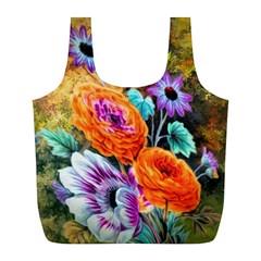 Flowers Artwork Art Digital Art Full Print Recycle Bags (l)