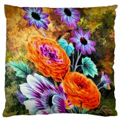 Flowers Artwork Art Digital Art Large Flano Cushion Case (One Side)