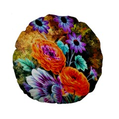 Flowers Artwork Art Digital Art Standard 15  Premium Flano Round Cushions