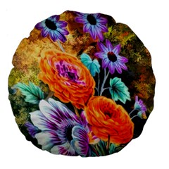 Flowers Artwork Art Digital Art Large 18  Premium Flano Round Cushions