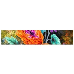 Flowers Artwork Art Digital Art Flano Scarf (small)