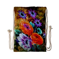 Flowers Artwork Art Digital Art Drawstring Bag (small)