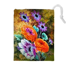 Flowers Artwork Art Digital Art Drawstring Pouches (extra Large)