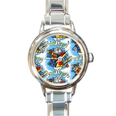 Seamless Repeating Tiling Tileable Round Italian Charm Watch
