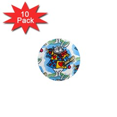 Seamless Repeating Tiling Tileable 1  Mini Magnet (10 Pack)