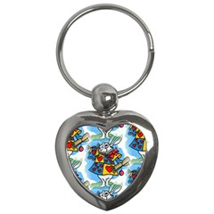 Seamless Repeating Tiling Tileable Key Chains (heart)