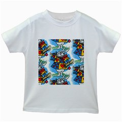 Seamless Repeating Tiling Tileable Kids White T Shirts