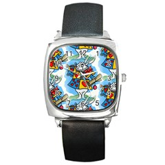 Seamless Repeating Tiling Tileable Square Metal Watch