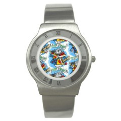 Seamless Repeating Tiling Tileable Stainless Steel Watch