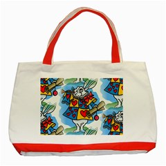 Seamless Repeating Tiling Tileable Classic Tote Bag (Red)