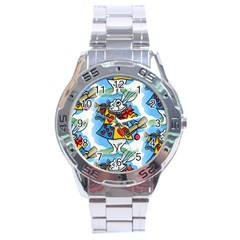 Seamless Repeating Tiling Tileable Stainless Steel Analogue Watch