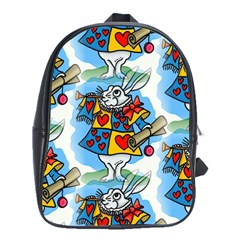 Seamless Repeating Tiling Tileable School Bags (xl)