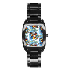 Seamless Repeating Tiling Tileable Stainless Steel Barrel Watch
