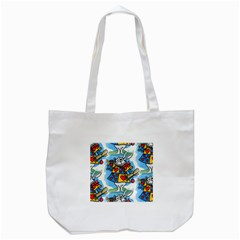 Seamless Repeating Tiling Tileable Tote Bag (white)