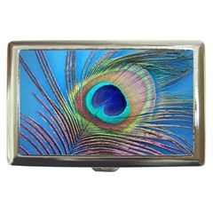 Peacock Feather Blue Green Bright Cigarette Money Cases