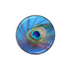 Peacock Feather Blue Green Bright Hat Clip Ball Marker