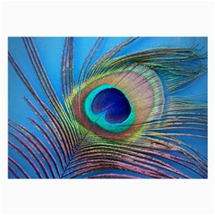 Peacock Feather Blue Green Bright Large Glasses Cloth (2 Side)