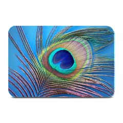 Peacock Feather Blue Green Bright Plate Mats