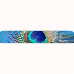 Peacock Feather Blue Green Bright Small Bar Mats
