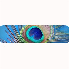 Peacock Feather Blue Green Bright Large Bar Mats
