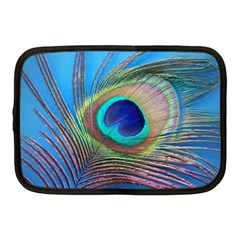 Peacock Feather Blue Green Bright Netbook Case (medium)