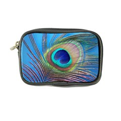 Peacock Feather Blue Green Bright Coin Purse