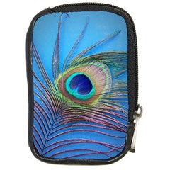 Peacock Feather Blue Green Bright Compact Camera Cases
