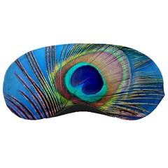 Peacock Feather Blue Green Bright Sleeping Masks