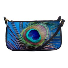 Peacock Feather Blue Green Bright Shoulder Clutch Bags