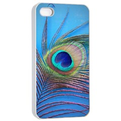 Peacock Feather Blue Green Bright Apple Iphone 4/4s Seamless Case (white)