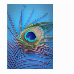 Peacock Feather Blue Green Bright Large Garden Flag (two Sides)