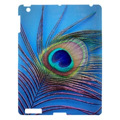 Peacock Feather Blue Green Bright Apple Ipad 3/4 Hardshell Case