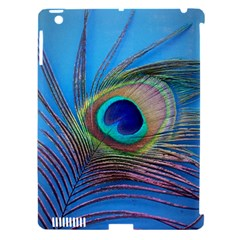 Peacock Feather Blue Green Bright Apple Ipad 3/4 Hardshell Case (compatible With Smart Cover)