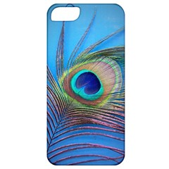 Peacock Feather Blue Green Bright Apple Iphone 5 Classic Hardshell Case
