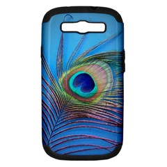 Peacock Feather Blue Green Bright Samsung Galaxy S Iii Hardshell Case (pc+silicone)